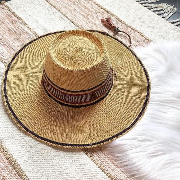 4983e80e Vintage Accessories | Woven Boho Straw Beach Hat | Poshmark